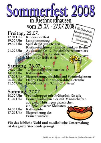 Plakat Sommerfest 2008